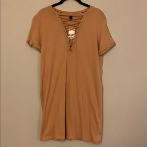NWT Laced up Forever21 Dress
